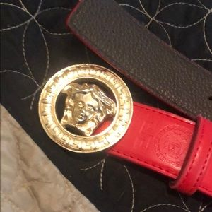 Red Versace Belt